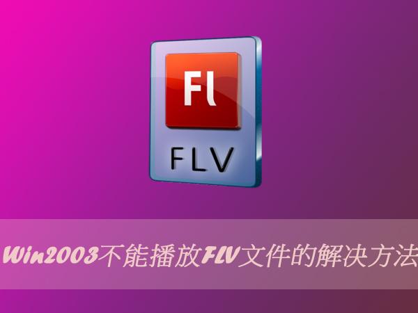 Win2003不能播放FLV文件的解決方法